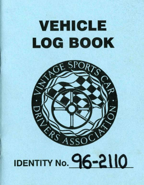 This car has a Vintage Sports Car Drivers Association (VSCDA) Log Book.